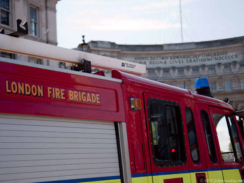 London Fire Brigade and Admiralty Arch