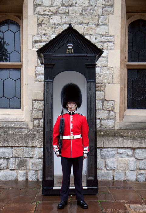 Guard at The Jewel House, Tower of London