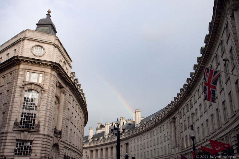 Rainbow over Regent St.