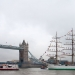"Tall Ship ""Gloria"" at the Tower Bridge"